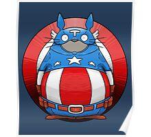 Captain America Totoro Poster