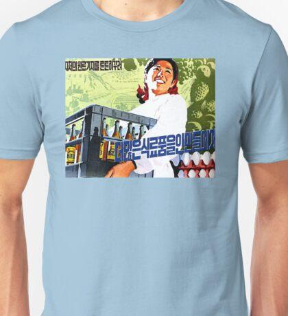 North Korean Propaganda - Beer and Eggs Unisex T-Shirt