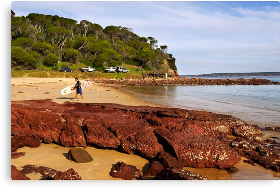Bar Beach at Merimbula by Darren Stones