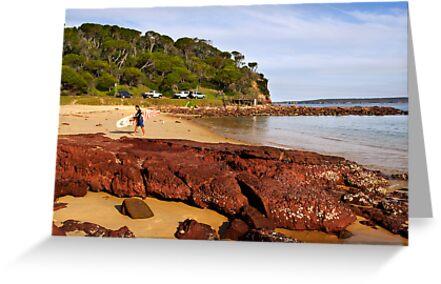 Bar Beach at Merimbula by Darren Stones
