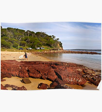 Bar Beach at Merimbula Poster