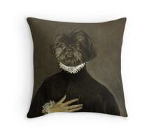 Gentleman Shih Tzu with his Hand on his Chest Throw Pillow