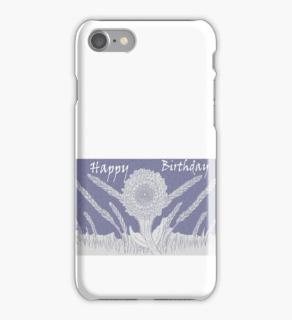 Happy Birthday in Mauve iPhone Case/Skin