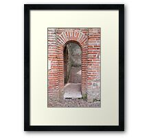 angle architectural Framed Print