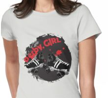 Roller Derby Girl logo Womens Fitted T-Shirt