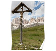 jesus altar on the mountain Poster