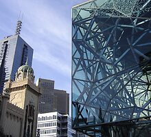 Flinders Streetscape by Robyn Williams