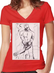 Jason, Friday 13th Women's Fitted V-Neck T-Shirt