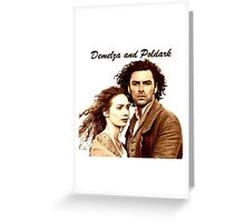 Demelza and Poldark in Cornwall Greeting Card