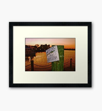 Gator Sign Framed Print