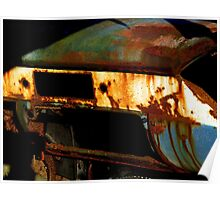 Rusty Detail Of An Abandoned Car Poster