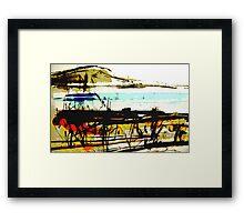 vineyard facing the bay #5 Framed Print