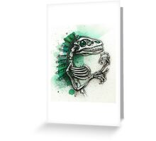 Feathered Raptor Greeting Card