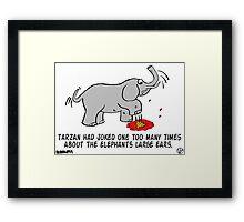 Tarzan the Bully. Framed Print