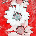 Red & White Daisies by Diamond8