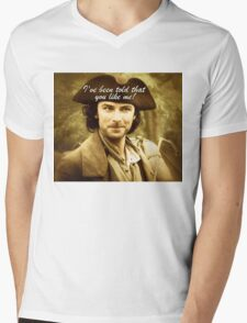Sexy Poldark in Cornwall Mens V-Neck T-Shirt