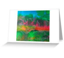 The mysticism of Hanging Rock VIC Australia - abstract Greeting Card
