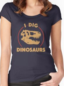 I Dig Dinosaurs Women's Fitted Scoop T-Shirt