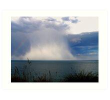 Summer Rain Storm at Sea Art Print