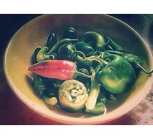 Still life with hot peppers Photographic Print