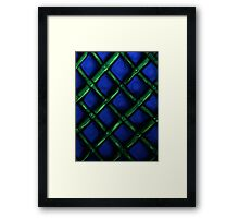 Cool Green and Blue Print Framed Print