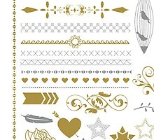 Pretty Gold Silver Collection by AmazingVision