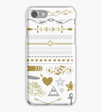 Pretty Gold Silver Collection iPhone Case/Skin