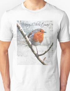 Christmas Robin Unisex T-Shirt