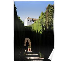 Approaching the Summer Palace through the Generalife, La Alhambra Poster