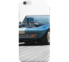 1965 Corvette 'Fuel Injected' Convertible iPhone Case/Skin
