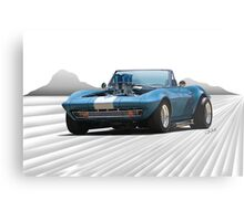 1965 Corvette 'Fuel Injected' Convertible Metal Print
