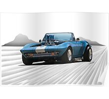 1965 Corvette 'Fuel Injected' Convertible Poster