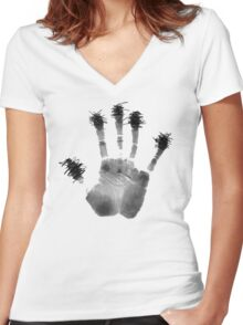 90059 (Light Edition) Women's Fitted V-Neck T-Shirt
