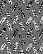 Feather geometric grey charcoal neutral modern pattern print dots geo scandinavian scandi pattern print by charlottewinter