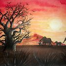 Sunset in the Serengeti by Corrina Holyoake