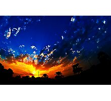 A golden sky Photographic Print