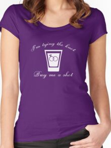 I'm Tying The Knot Buy Me A Shot Women's Fitted Scoop T-Shirt
