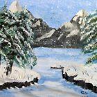 Rocky Mountain, winter by GEORGE SANDERSON
