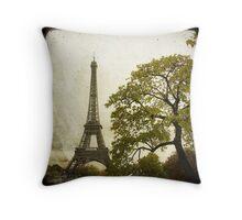 Autumnal Paris Throw Pillow