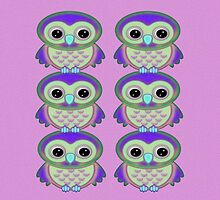 Psychedelic Owls  by LoneAngel