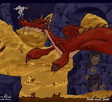 The Hobbit - Smaug and the Burglar by SuspendedDreams