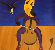 Crow Clown Assaulting Autoanimated Cellist by Rudy Pavlina