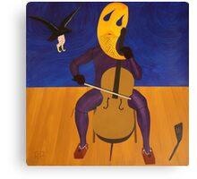 Crow Clown Assaulting Autoanimated Cellist Canvas Print