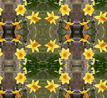 Daffodils and Spring Fabrics by JonDelorme