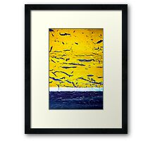 A Yellow One Framed Print