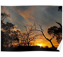 Sunset Along Dogtrap Road.-- Australia. Poster