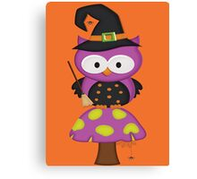 Witchy Owl  Canvas Print