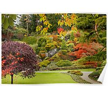 Autumn in Butchart Gardens,  Poster