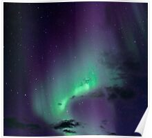 Aurora Borealis / North Light in the arctic Norway Poster