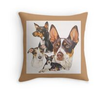 Rat Terrier Throw Pillow